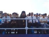Председатель Синодального отдела по взаимодействию с Вооруженными силами посетил Главный военно-морской парад в Санкт-Петербурге