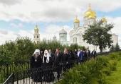 Святейший Патриарх Кирилл посетил Канавку Божией Матери в Дивеевском монастыре