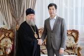 Митрополит Астанайский Александр встретился с акимом Западно-Казахстанской области