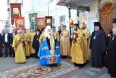 В день памяти святителя Георгия (Конисского) архиереи Белорусского экзархата совершили Литургию в Спасо-Преображенском соборе города Могилева
