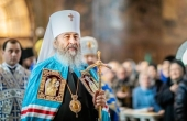 Патриаршее поздравление митрополиту Киевскому и всея Украины Онуфрию с пятилетием интронизации