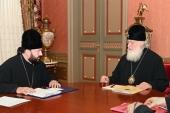 Святейший Патриарх Кирилл принял архиепископа Владикавказского Леонида