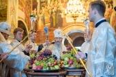 В праздник Преображения Господня Блаженнейший митрополит Онуфрий возглавил богослужение в Киево-Печерской лавре