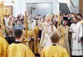 Святейший Патриарх Кирилл совершил великое освящение храма Державной иконы Божией Матери в Чертанове г. Москвы