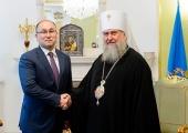 Духовно-культурный центр Казахстанского митрополичьего округа посетил министр информации и общественного развития Казахстана