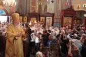 Патриарший наместник Московской епархии совершил Литургию в соборе Всех святых, в земле Российской просиявших, в г. Домодедово