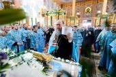 В праздник Успения Пресвятой Богородицы глава Казахстанского митрополичьего округа возглавил престольные торжества главного храма Нур-Султана