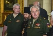 Председатель Синодального отдела по взаимодействию с Вооруженными силами и заместитель министра обороны России посетили воинские храмы Санкт-Петербурга