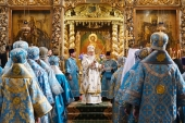 В праздник Донской иконы Божией Матери Святейший Патриарх Кирилл совершил Литургию в Донском монастыре и возглавил хиротонию архимандрита Игнатия (Голинченко) во епископа Енисейского