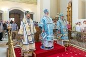 Патриарший экзарх всея Беларуси представил полоцкой пастве нового правящего архиерея