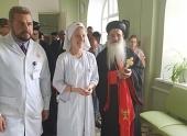 Предстоятель Маланкарской Церкви посетил больницу святителя Алексия в Москве