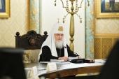 Слово Святейшего Патриарха Кирилла на заседании Высшего Церковного Совета в Храме Христа Спасителя в Москве