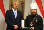 Митрополиту Волоколамскому Илариону вручена государственная награда Венгрии