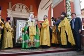Слово Святейшего Патриарха Кирилла в день памяти святителя Петра после молебна в Высоко-Петровском монастыре