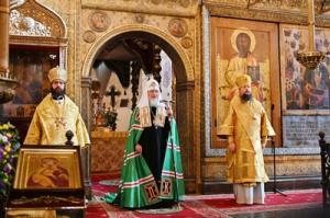 Патриаршая проповедь в день памяти святителя Петра после Литургии в Успенском соборе Московского Кремля