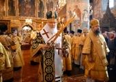 В день памяти святителя Московского Петра Святейший Патриарх Кирилл совершил Литургию в Успенском соборе Московского Кремля