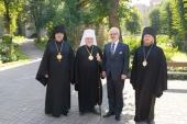 Состоялась встреча митрополита Рижского Александра с Президентом Латвийской Республики Эгилсом Левитсом