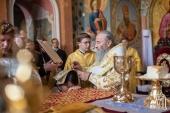 В Неделю 12-ю по Пятидесятнице Блаженнейший митрополит Онуфрий совершил Литургию в Киево-Печерской лавре