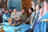Предстоятель Русской Церкви совершил Литургию в храме вмч. Никиты в Старой Басманной Слободе г. Москвы и возглавил хиротонию архимандрита Порфирия (Шутова) во епископа Одинцовского