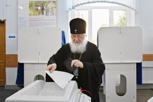 Святейший Патриарх Кирилл принял участие в выборах в Московскую городскую Думу