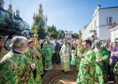 Блаженнейший митрополит Онуфрий возглавил празднование Собора преподобных отцов Киево-Печерских, в Дальних пещерах почивающих