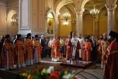 Святейший Патриарх Кирилл возглавил торжества престольного праздника в Иоанно-Предтеченском ставропигиальном монастыре г. Москвы