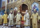 Глава Казахстанского митрополичьего округа возглавил престольные торжества Александро-Невского кафедрального собора города Таллина