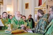 Святейший Патриарх Кирилл совершил Литургию в Даниловом ставропигиальном монастыре и возглавил хиротонию архимандрита Леонтия (Козлова) во епископа Сызранского
