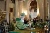 Святейший Патриарх Кирилл совершил Литургию в Даниловом ставропигиальном монастыре