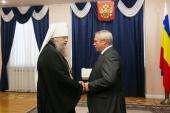 Глава Донской митрополии награжден медалью ордена «За заслуги перед Ростовской областью»