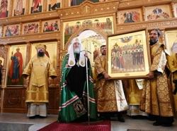 Проповедь Святейшего Патриарха Кирилла в Неделю 13-ю по Пятидесятнице после Литургии в храме равноапостольной княгини Ольги в Останкине г. Москвы