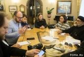 Представители медиацентра Коптской Церкви и египетских телеканалов встретились с сотрудниками информационных служб Русской Православной Церкви