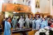 Глава Казахстанского митрополичьего округа совершил Литургию в Иверско-Серафимовском соборе Экибастуза