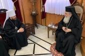 Состоялась встреча митрополита Волоколамского Илариона с Патриархом Иерусалимским Феофилом III