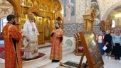 В день памяти мученицы Татианы Гримблит председатель Синодального отдела по благотворительности совершил Литургию в храме Новомучеников и исповедников Российских в Бутове