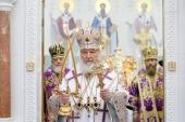 У день свята Воздвиження Чесного і Животворящого Хреста Господнього Святіший Патріарх Кирил освятив Софійський собор у Самарі