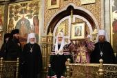 Слово Святейшего Патриарха Кирилла в канун праздника Воздвижения Креста Господня после всенощного бдения в Спасо-Преображенском соборе г. Тольятти