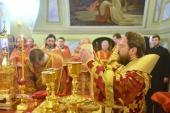 Митрополит Волоколамский Иларион совершил Литургию в престольный праздник московского храма мучеников Михаила и Феодора на Черниговском подворье