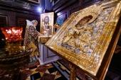 В Неделю 16-ю по Пятидесятнице Святейший Патриарх Кирилл совершил Литургию в Храме Христа Спасителя и возглавил хиротонию архимандрита Амвросия (Шевцова) во епископа Светлогорского