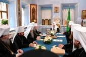 His Holiness Patriarch Kirill chairs session of the Holy Synod at the Laura of the Holy Trinity and St. Sergius