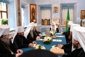 Предстоятель Русской Православной Церкви возглавил заседание Священного Синода в Троице-Сергиевой лавре