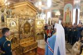 В Новосибирске состоялся молебен у главной иконы Вооруженных сил России «Спас Нерукотворный»