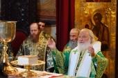 В день преставления преподобного Сергия Радонежского Предстоятель Русской Церкви совершил Литургию в Троице-Сергиевой лавре