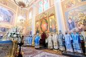 Митрополит Астанайский Александр совершил первую Литургию в отреставрированном Вознесенском кафедральном соборе Алма-Аты