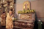 Патриарший наместник Московской епархии в Донском ставропигиальном монастыре возглавил торжества по случаю 30-летия прославления святителя Тихона