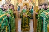 В день памяти преподобных Кирилла и Марии Радонежских Патриарший экзарх всея Беларуси совершил Литургию в Сергиевском приходе города Минска