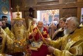 Предстоятель Украинской Православной Церкви совершил освящение храма в городе Вишнёвое Киевской области
