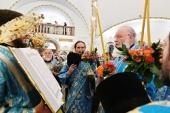 В канун праздника Покрова Пресвятой Богородицы Святейший Патриарх Кирилл совершил всенощное бдение в храме благоверного князя Игоря Черниговского в Переделкине