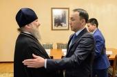 Состоялась встреча главы Казахстанского митрополичьего округа с акимом Костанайской области