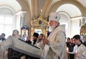 Святейший Патриарх Кирилл совершил отпевание архимандрита Нестора (Жиляева)